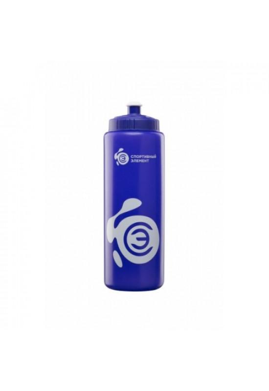 Бутылка «Азурит», синяя бутылка с белым логотипом 1000 мл