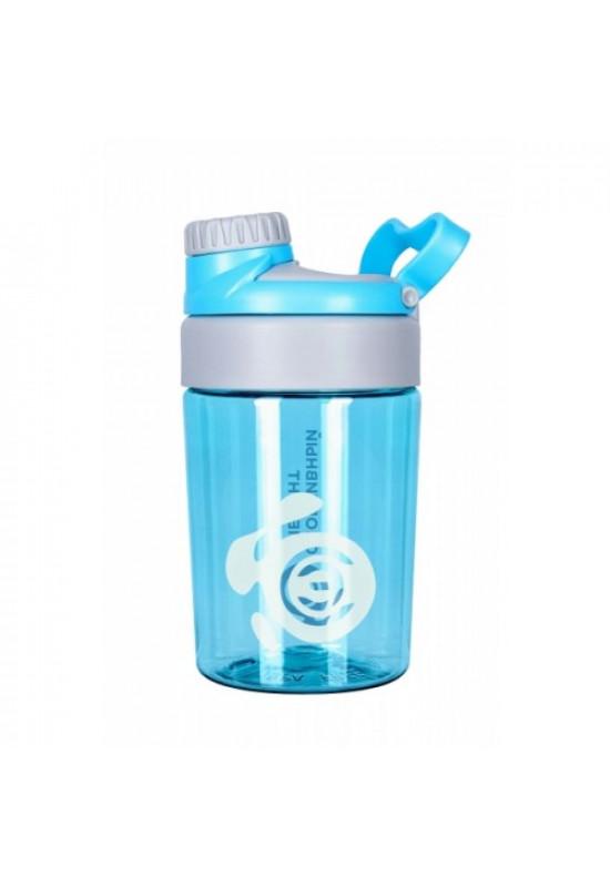 Бутылка «Опал», голубая бутылка с белым логотипом 400 мл