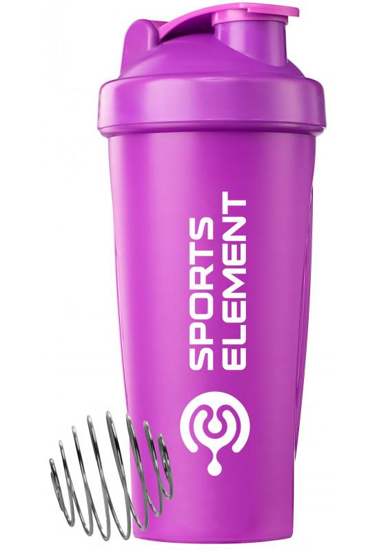 Спортивный шейкер «Иолит» 600 мл Фиолетовый шейкер с белым логотипом