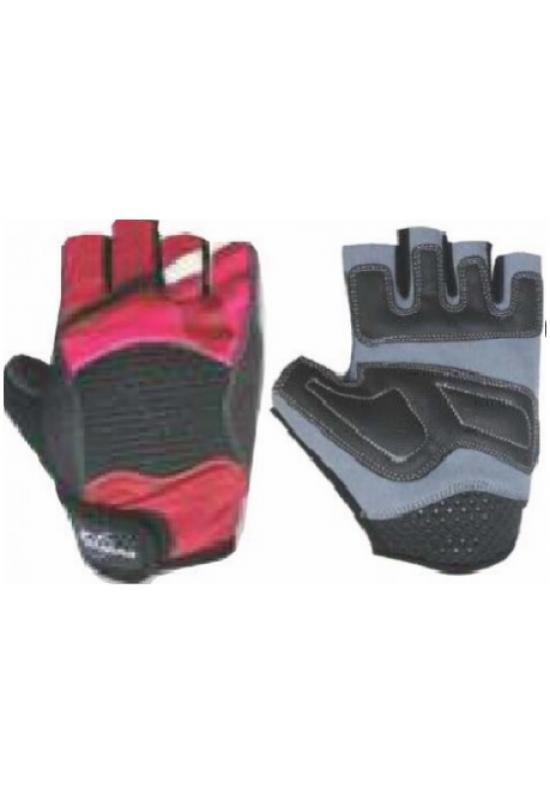 Женские перчатки hunter sports красно-черные s
