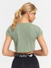 Укороченная футболка свободного кроя Eazyway зеленая