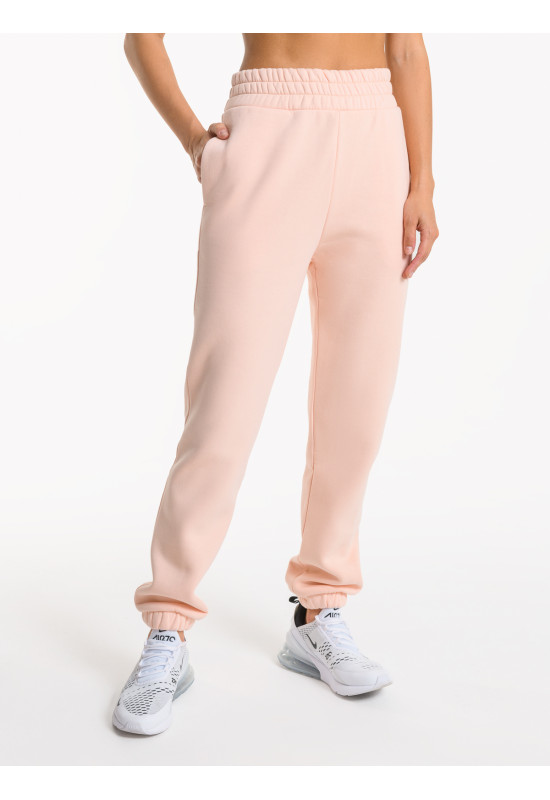Спортивные брюки с начесом Eazyway персиковые