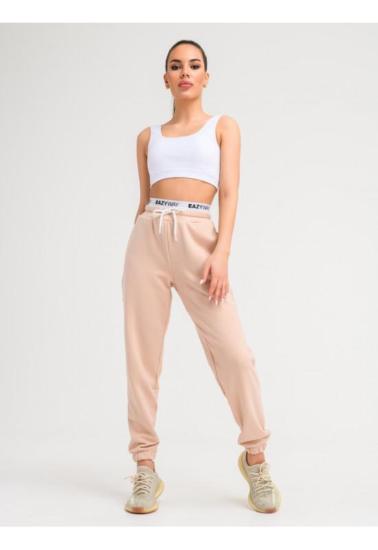 Спортивные брюки Eazyway с резинкой бежевые
