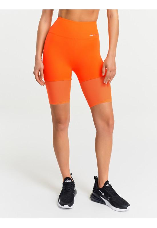 Велосипедки Eazyway с сеткой оранжевый неон