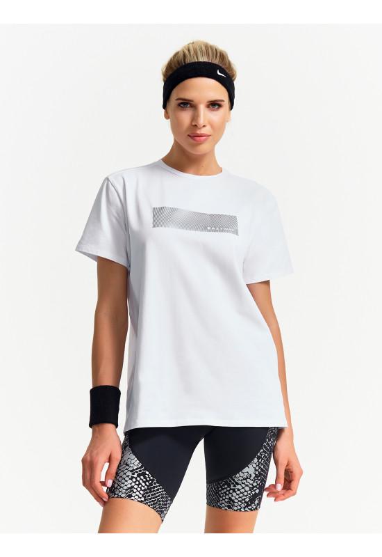 Хлопковая футболка Eazyway белая серебро