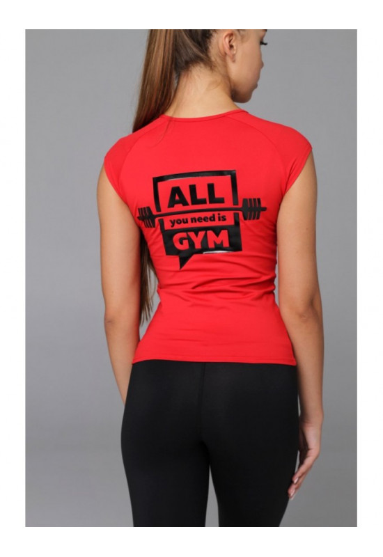 Футболка Forstrong ALL YOU NEED IS GYM красная