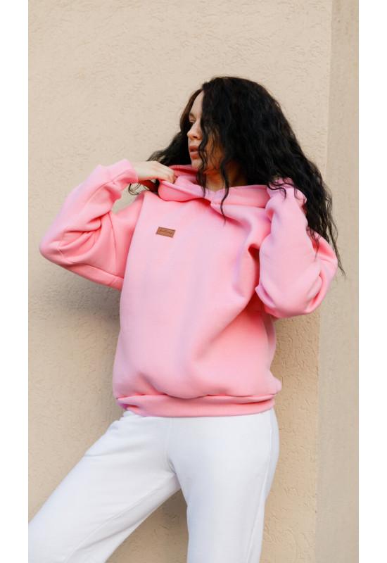 Толстовка с флисом Forstrong Basic Oversize Pink Розовый