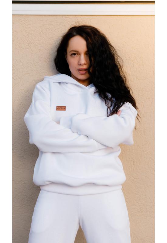 Толстовка Forstrong Basic Oversize White с утеплителем