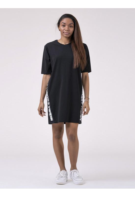 Платье NEBBIA Playful Restday Oversized dress 522 BLACK