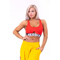 Женский топ Nebbia athletic cut out sport bra 695 red