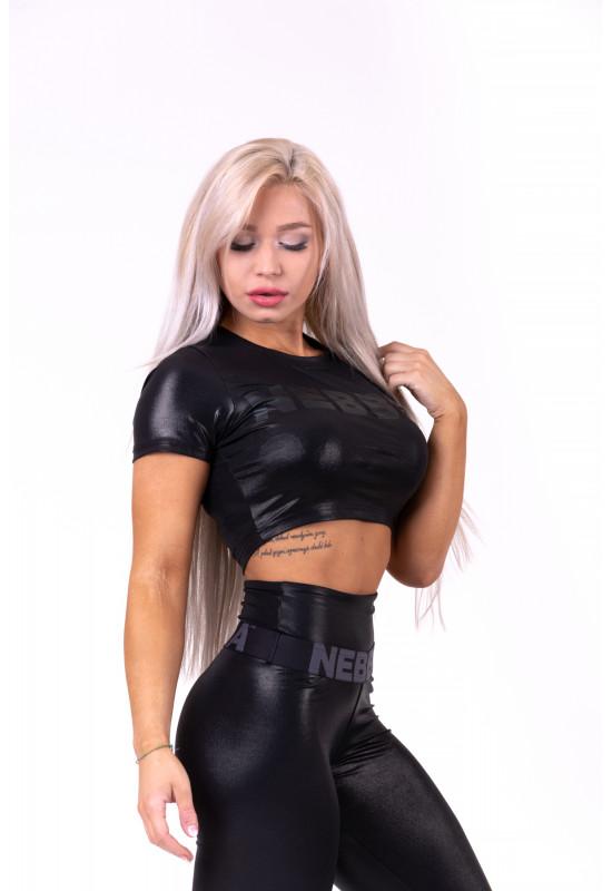 Женская укороченная футболка Nebbia crop top 657 black
