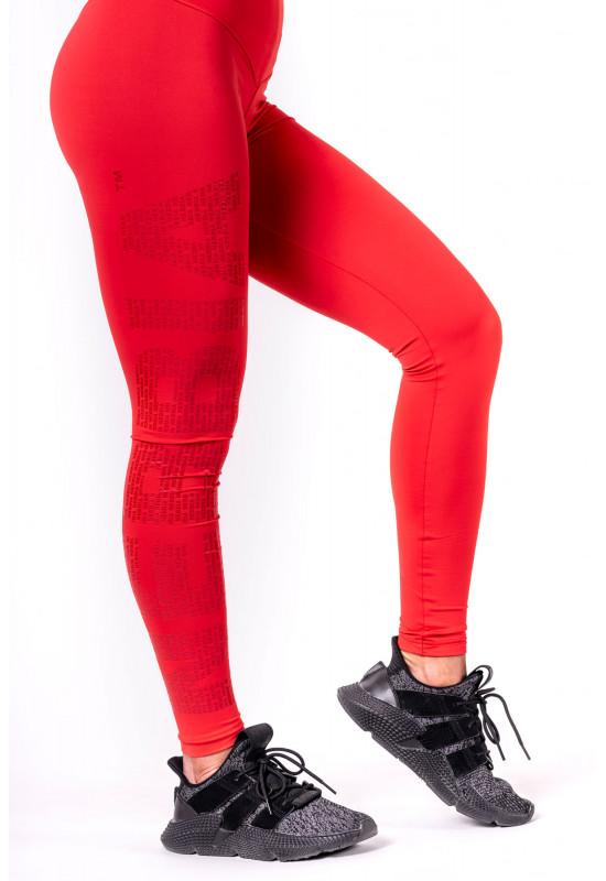 Лосины Nebbia One tone pattern leggings red красные