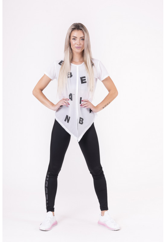 """Женская футболка Nebbia tied knot """"Letters"""" T-shirt 680 white"""