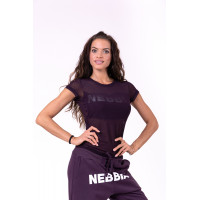 Женская майка Nebbia Flash-Mesh T-shirt 665 burgundy