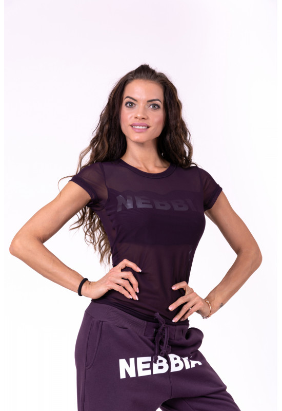 Женская майка Nebbia Flash-Mesh T-shirt 665 burgundy