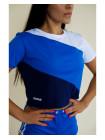 Укороченная футболка Rowan Rally синяя