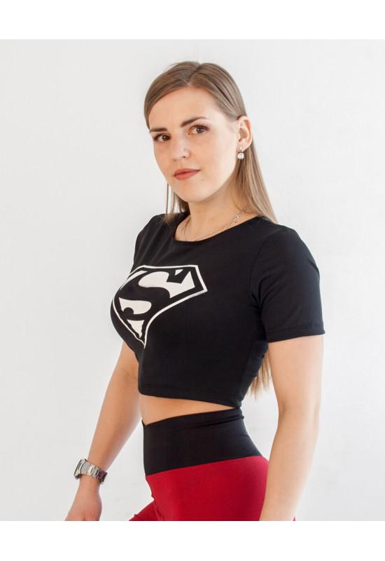 Короткая футболка Rowan Superman White