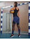 Леггинсы с сеткой для фитнеса Rowan Wave синие